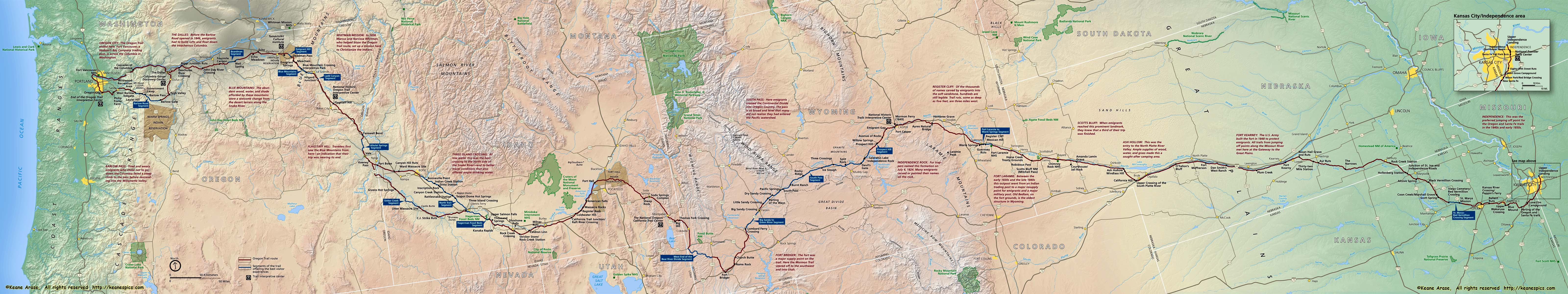 Oregon Trail On Us Map.Keane S Picture Web Site Map Of Oregon Trail Goodales Cutoff