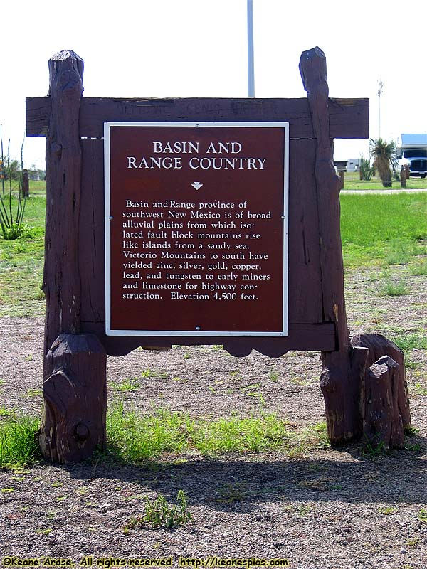 Basin and Range Country sign