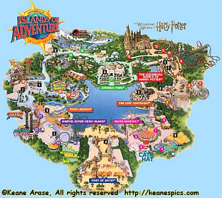 Keanes Picture Web Site Universal Orlando Resort Islands of
