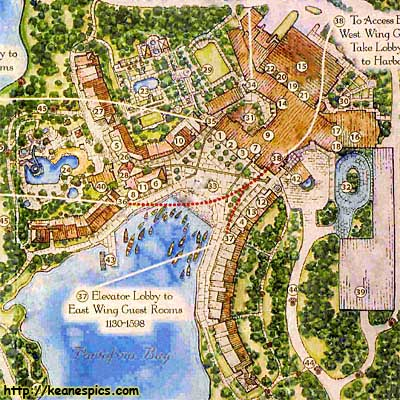 Map Of Loews Portofino Bay Hotel. Click On The Map For A Larger View.  (1500px X 1175px, 391KB.) Map ©Loews Hotels