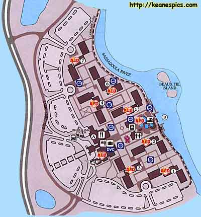 Charming Map Of Disneyu0027s Port Orleans Riverside Resort. Click On The Map For A  Larger View... (But Itu0027ll Be The Same Map If You Clicked On Riverside  Above!)