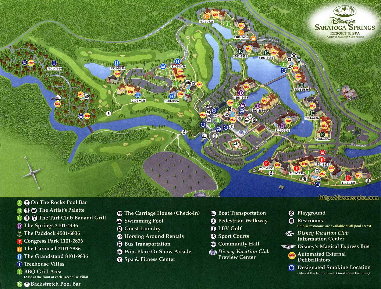 Keane\'s Picture Web Site - Map of Disney\'s Saratoga Springs Resort ...