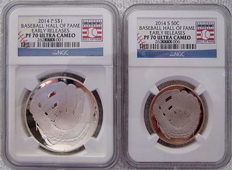 2014-P SILVER DOLLAR BASEBALL HOF Hall Of Fame Silver Proof Coin B33